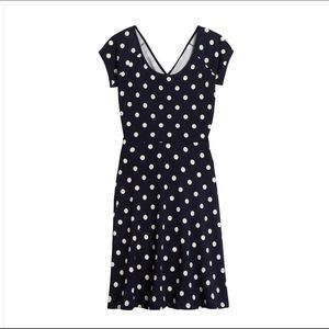 Gillis Rinna Dress Navy polka dot XL NWT